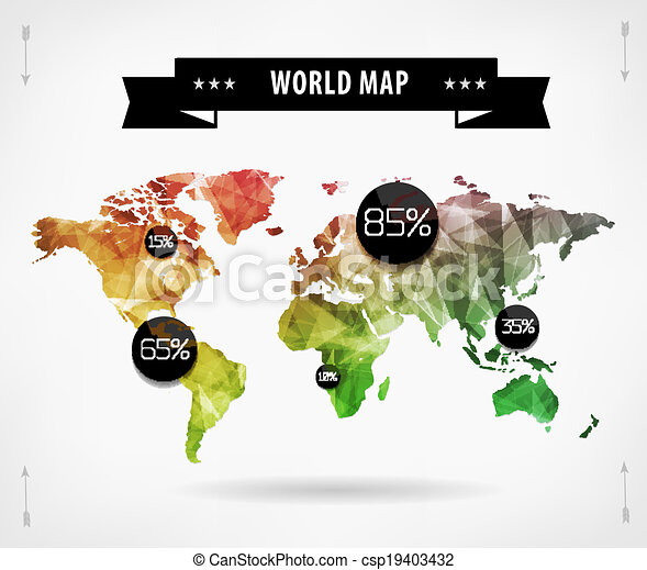 World map infographic template all countries are selectable world world map infographic template all countries are selectable csp19403432 gumiabroncs Gallery