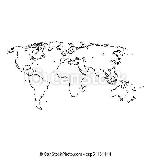 World map it is black icon simple style vector clip art search world map it is black icon csp51161114 gumiabroncs Choice Image