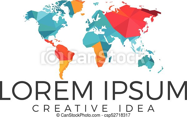 World map logo creative travel logo design vector clip art vector world map logo csp52718317 gumiabroncs Image collections