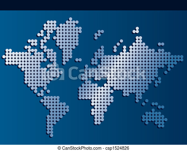 World map made of dots with banner background space for text world map made of dots csp1524826 gumiabroncs Image collections
