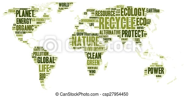 World map made of eco words word cloud in a shape of world map eco world map made of eco words csp27954450 gumiabroncs Gallery