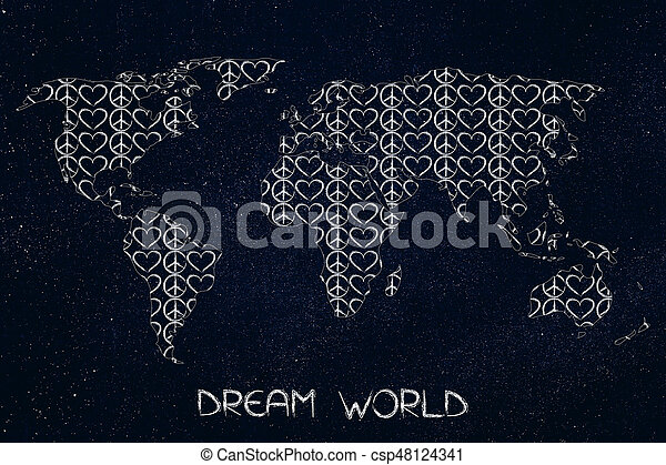 world map made of peace and symbols on made up topographic maps, made up flags, made up gifts, made up toys, made up characters, made up games, made up photography, made up solar system, made up physical maps, made up country maps, made up military,
