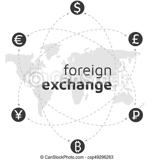 World map money and bitcoin icon abstract sign currency clip world map money and bitcoin icon abstract sign currency exchange flat design illustration gumiabroncs Gallery