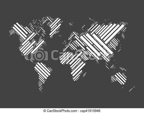 World map of black blocks vector world map mosaic of white blocks world map of black blocks csp41910946 gumiabroncs Choice Image