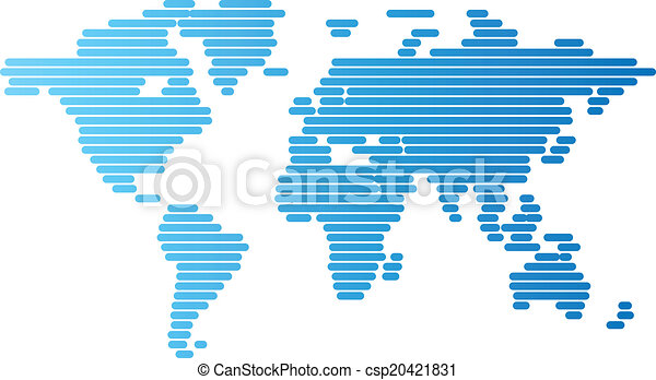 Abstract computer graphic world map of blue rounded lines world map of blue rounded lines csp20421831 gumiabroncs Gallery