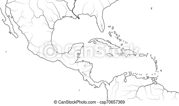 World Map Of Central America And Caribbean Region Mexico Caribbean Islands Caribbean Basin Geographic Chart World Map