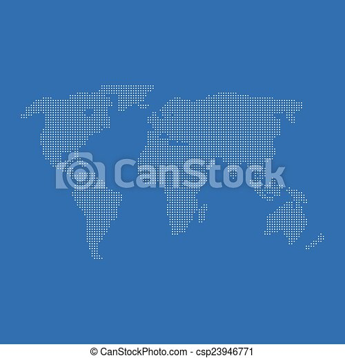 World map of dots for web and mobile app vectors illustration world map of dots csp23946771 gumiabroncs Gallery