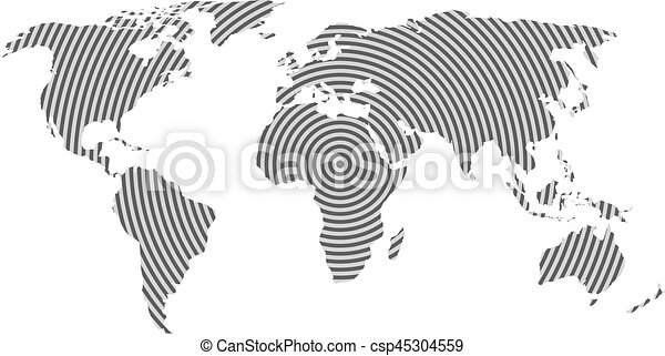 World map of grey concentric rings on white background worldwide world map of grey concentric rings on white background worldwide communication radio waves concept modern design vector wallpaper gumiabroncs Images