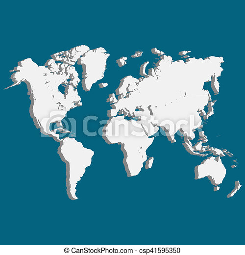 World map of planet earth 3d stock illustrations search clipart world map of planet earth 3d csp41595350 gumiabroncs Images