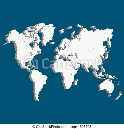 World map of planet earth 3d wold map with usa europe vector world map of planet earth 3d csp41595305 gumiabroncs Images