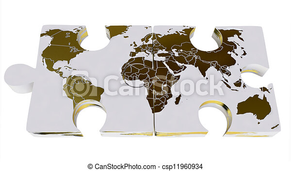 World map on 3d jigsaw puzzles world map on jigsaw puzzles world map on 3d jigsaw puzzles csp11960934 gumiabroncs Gallery