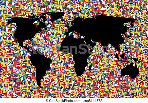 World map on background made of flags world map on background made of flags csp8144872 gumiabroncs Gallery