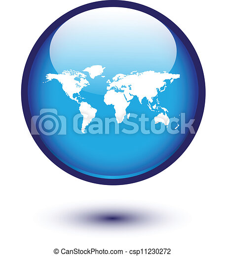 World map on blue - csp11230272
