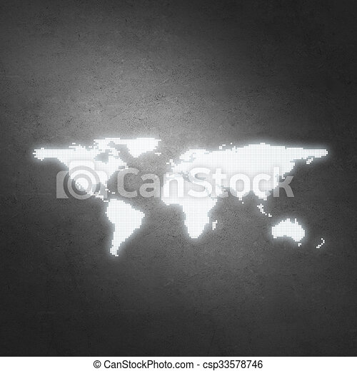 Background image with world map on concrete wall drawing search world map on concrete wall csp33578746 gumiabroncs Image collections