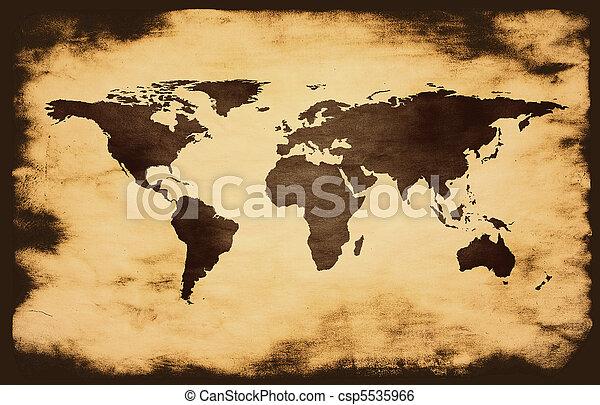 World map on grunge background world map on grunge background csp5535966 gumiabroncs Choice Image