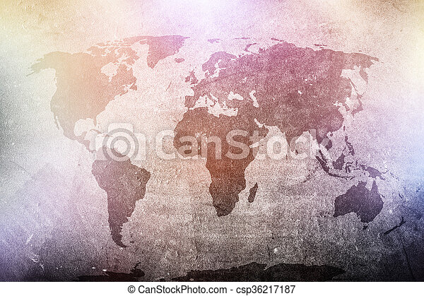 World map on grunge concrete wall in colorful spotights pictures world map on grunge concrete wall in colorful spotights csp36217187 gumiabroncs Image collections