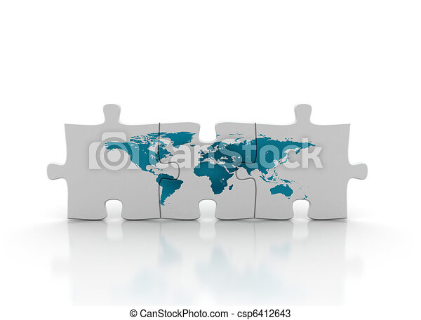 World map on puzzle drawings search clipart illustration and world map on puzzle csp6412643 gumiabroncs Choice Image