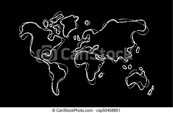 World map outline concept hand drawn sketch template world world map outline concept hand drawn sketch template csp50408851 gumiabroncs Image collections
