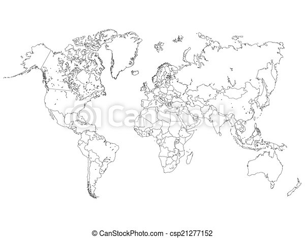 World map outline illustration clipart vector search illustration world map outline illustration gumiabroncs Gallery