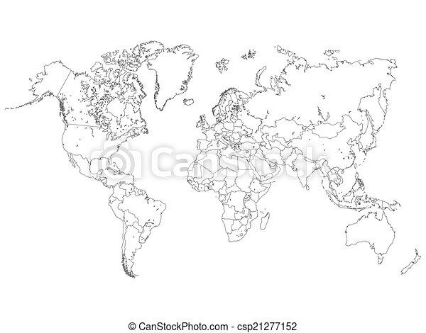 World map outline illustration world map outline illustration gumiabroncs Gallery
