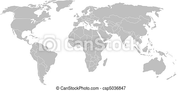 World map with country borders isolated on white background gumiabroncs Image collections