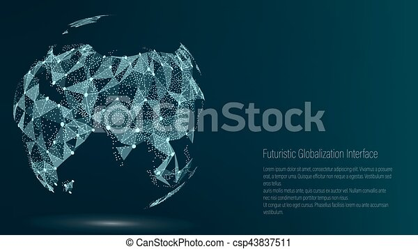 Drawing Lines In Mappoint : World map point asia vector illustration composition