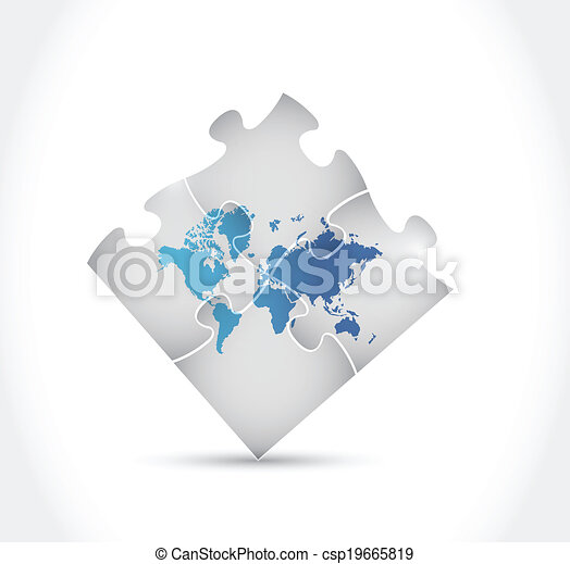 World map puzzle illustration design over a white background world map puzzle illustration design gumiabroncs Choice Image