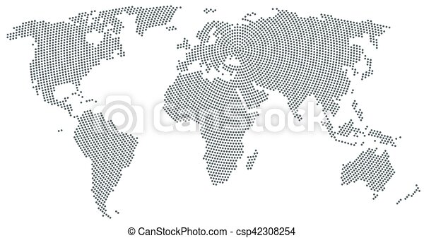 World map radial dot pattern gray color world map radial world map radial dot pattern gray color vector gumiabroncs Images
