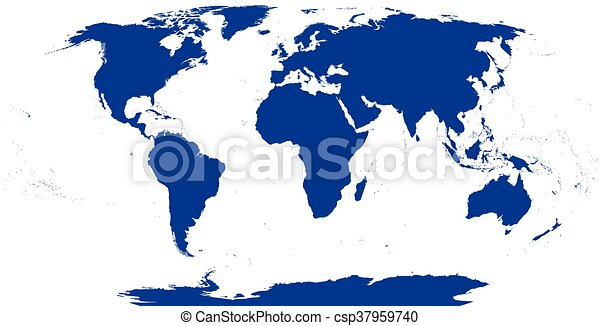 World map silhouette the surface of the earth detailed map eps world map silhouette csp37959740 gumiabroncs Images
