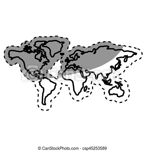 World map silhouette icon vector illustration graphic design vector world map silhouette csp45253589 gumiabroncs Choice Image