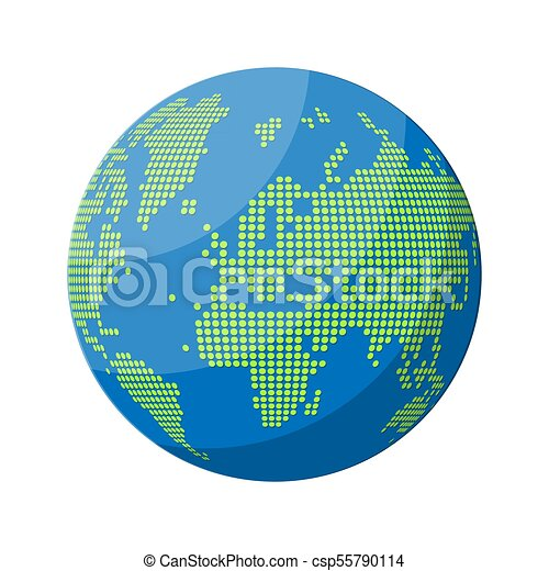 World map silhouette globe in dots cartography and vector clip world map silhouette globe in dots csp55790114 gumiabroncs Choice Image