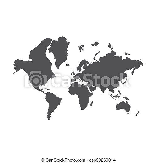 World map silhouette illustration on the white background vector world map silhouette illustration gumiabroncs Choice Image