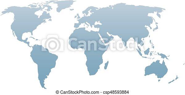 World map silhouette vector blue gradient isolated on white world map silhouette vector blue gradient isolated on white background gumiabroncs Images