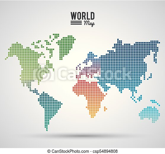 World map silhouette icon vector illustration graphic design vector world map silhouette csp54894808 gumiabroncs Choice Image
