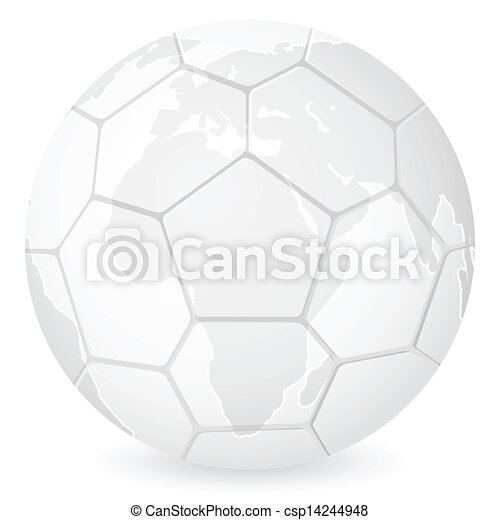 World map soccer ball on a white background vector eps vector world map soccer ball csp14244948 gumiabroncs Gallery
