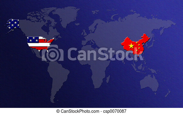 Line Art Usa Map : World map china vs usa stock illustrations search eps clipart