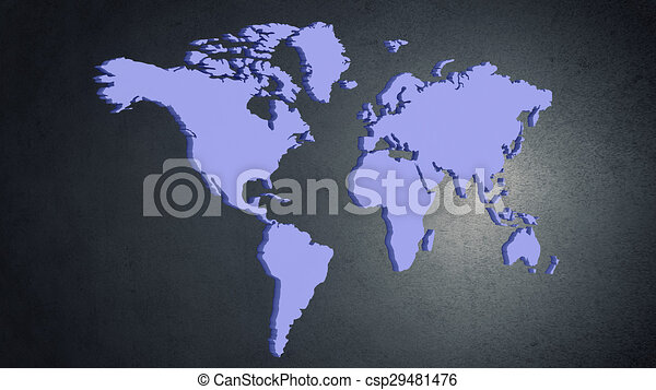 World map conceptual image with world map on concrete wall world map csp29481476 gumiabroncs Images