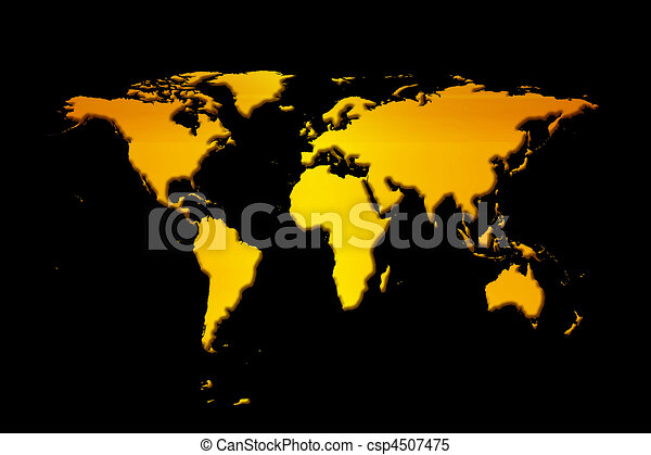 Orange world map with black background stock illustrations world map stock illustration gumiabroncs Images