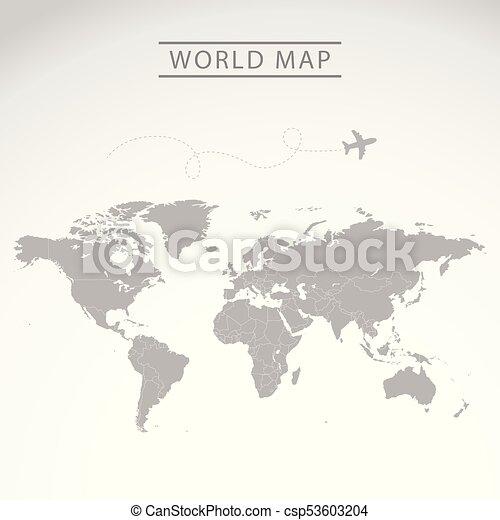 world map travel theme art - csp53603204
