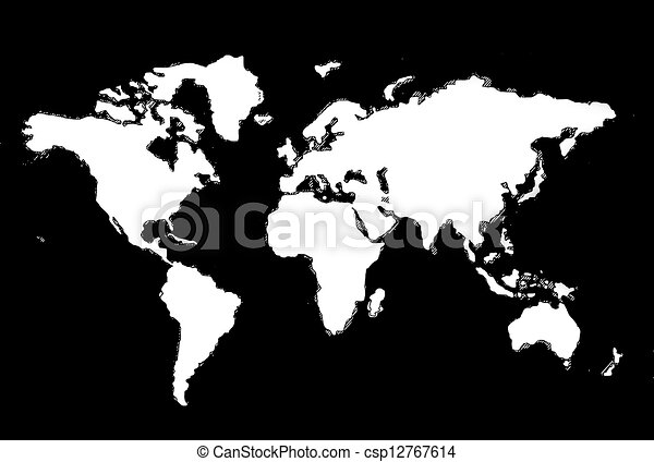 world map use for multipurpose - csp12767614