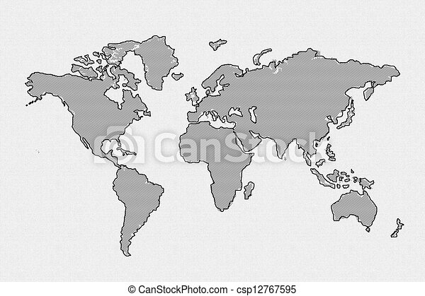 world map use for multipurpose - csp12767595