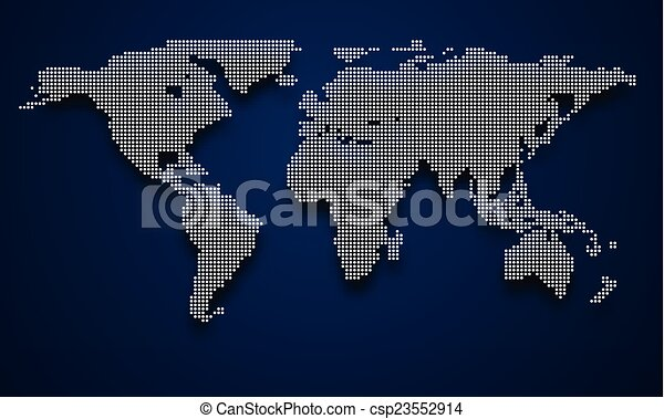 World map halftone world map with shadow vector vector clip art vector world map csp23552914 gumiabroncs Images