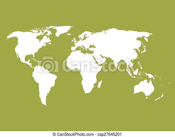 World map white silhouette of world map on green background vector world map csp27645201 gumiabroncs Images