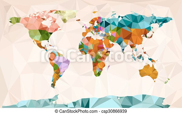 World map vector geometric design world map vector vectors world map vector geometric design gumiabroncs Images