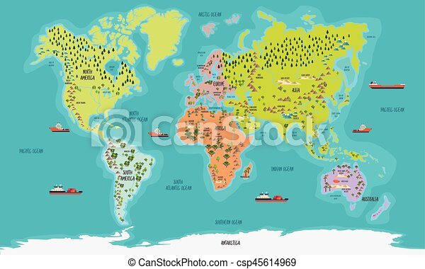 World map vector illustration world map color highly clip art world map vector illustration gumiabroncs Gallery