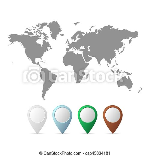 Black world map vector illustration flat world map with world map vector illustration gumiabroncs Gallery