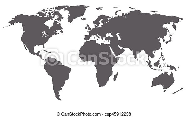 World map vector illustration grey color isolated on vectors world map vector illustration grey color isolated on white gumiabroncs Images