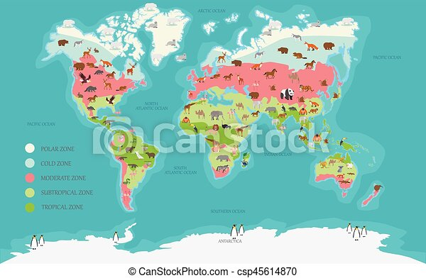 World map vector illustration world map climate zone and vectors world map vector illustration gumiabroncs Image collections