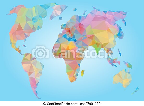 World map vector polygonal triangle geometric world map vector world map vector polygonal triangle geometric gumiabroncs Images