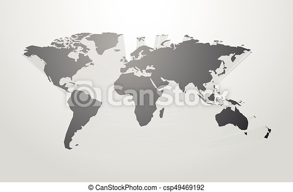 World map vector with 3d shadow world map vector with 3d shadow gumiabroncs Image collections